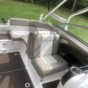 2010 Yamaha 242 Limited S , passenger's side seat up.