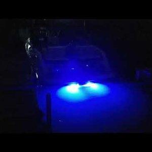 Scarab 195 Underwater Transom Lights from rear